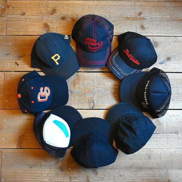 黒ベースボールキャップ帽子@古着屋カチカチ