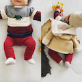 7ヶ月息子■太ボーダー×セリア商品×ユザワヤ商品コーデ