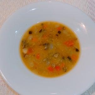 【赤レンズ豆のスープ】週末に赤レンズ豆のスープつくりました。スープは一...の画像