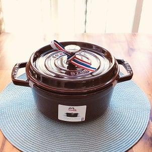新入りお鍋で南瓜の煮物の画像