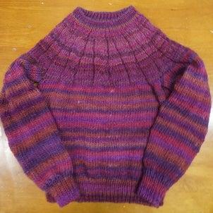 大急ぎで編んだセーターの画像
