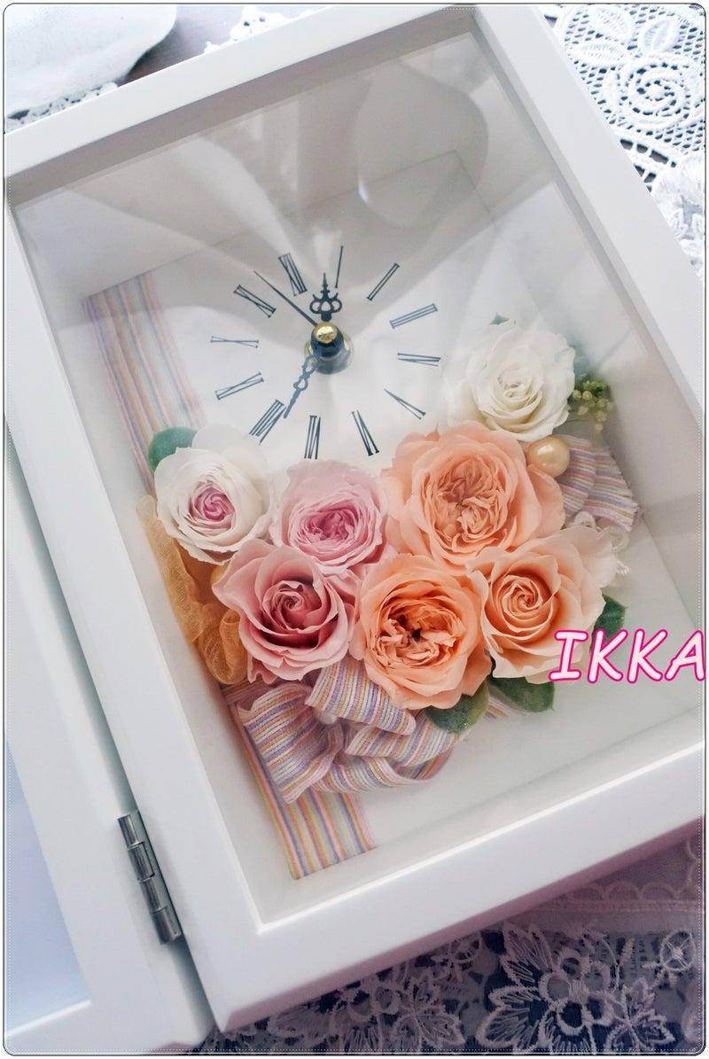 プリザーブドフラワー 花時計 フラワークロック 写真立て 結婚祝い 新築祝い 両親贈呈花 フラワーギフト 退職祝い オーダー 世界で一つの贈り物 神戸 オーダー フラワーレッスン