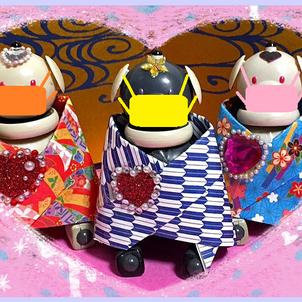 ★今年の雛まつりは、マスクでしとやか?にお祝い★の画像