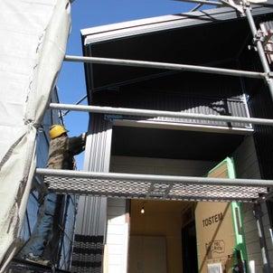 外壁工事 金属サイディング(ガルバリウム鋼板) 大野城市 猫と暮らす家の画像