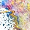 【教室レポーと】パステルの粉でどんな色ができるかな?の画像