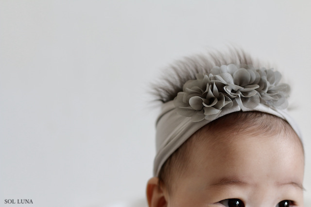 月齢の小さい赤ちゃんももっとかわいく♡フラワーヘアーターバン♡