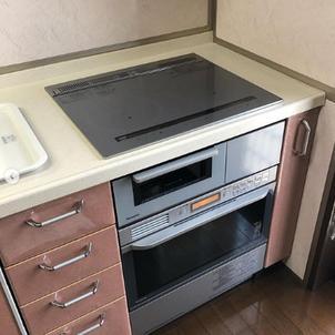岡山市、倉敷市、瀬戸内市でレンジフード取り替えとIHの取り替えと200Vのオーブンレンジ取り替えの画像