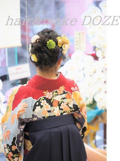 卒業式の袴スタイル。