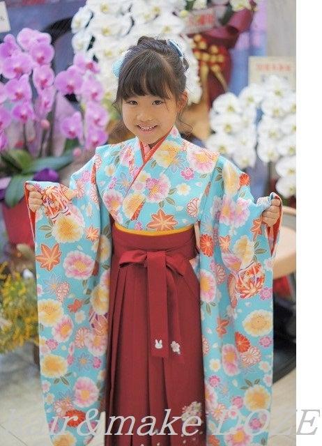 可愛い♡卒園式袴スタイル。