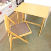 ♻️家具♻️折り畳みデスク&チェア♻️IKEAパーソナルチェア♻️ニトリ学習椅子の画像