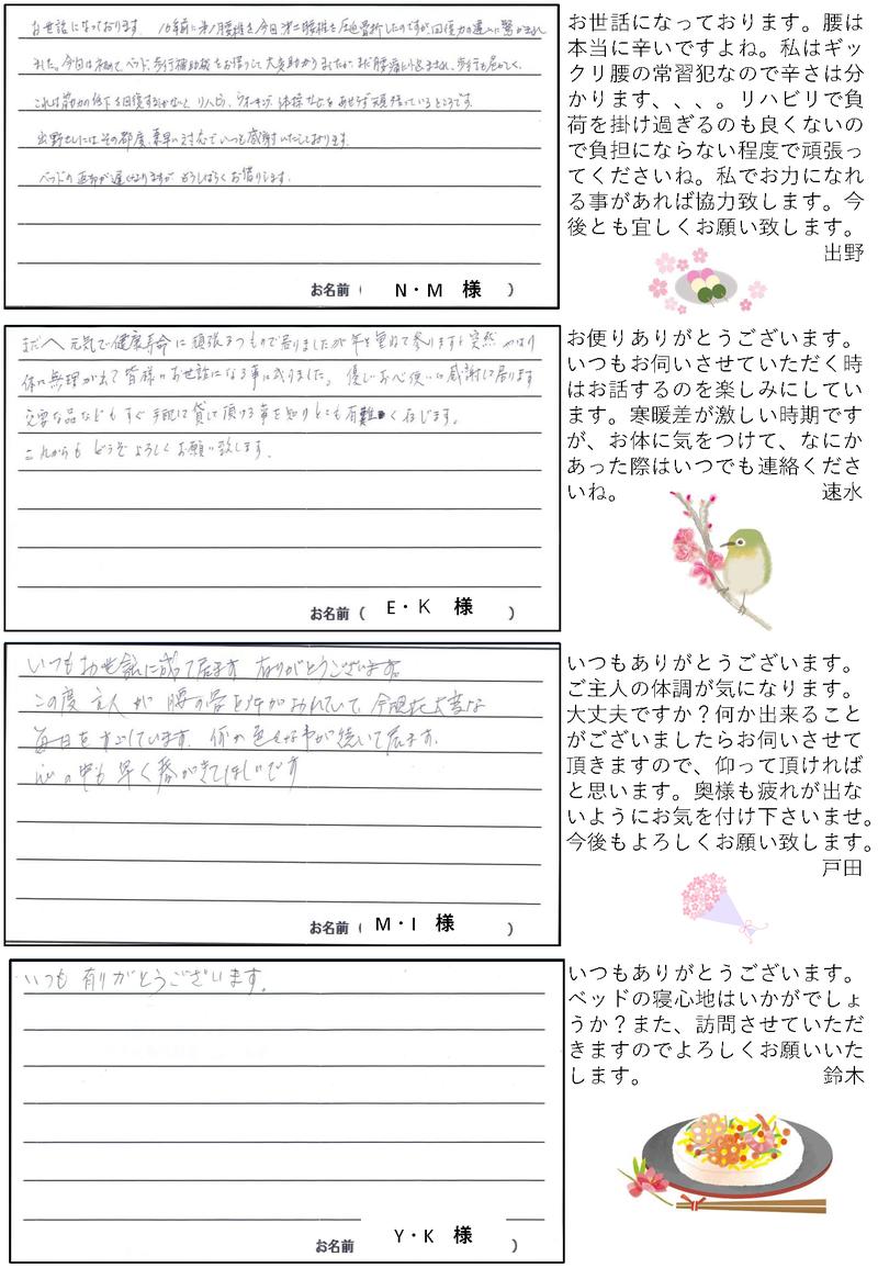さんきゅー皆様からのお便り2021年3月号