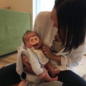 『生後3か月で、オマルうんち』の画像