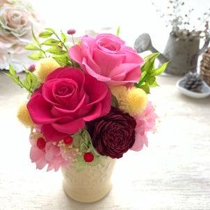 オーダー作品 ご結婚祝いのお花 想いをのせての画像