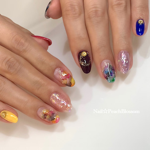 カラーインクでアシンメトリー☆の画像