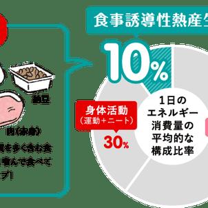 食事をするときにも消費するエネルギー(DIT)についての画像