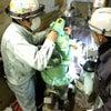 除塵器の整備中の画像