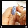 ブルーの花ネイルの画像