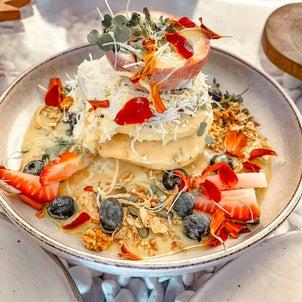 ゴールドコーストおしゃれカフェでヴィーガンパンケーキにトライの画像