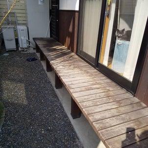 濡れ縁の塗り替え工事の画像