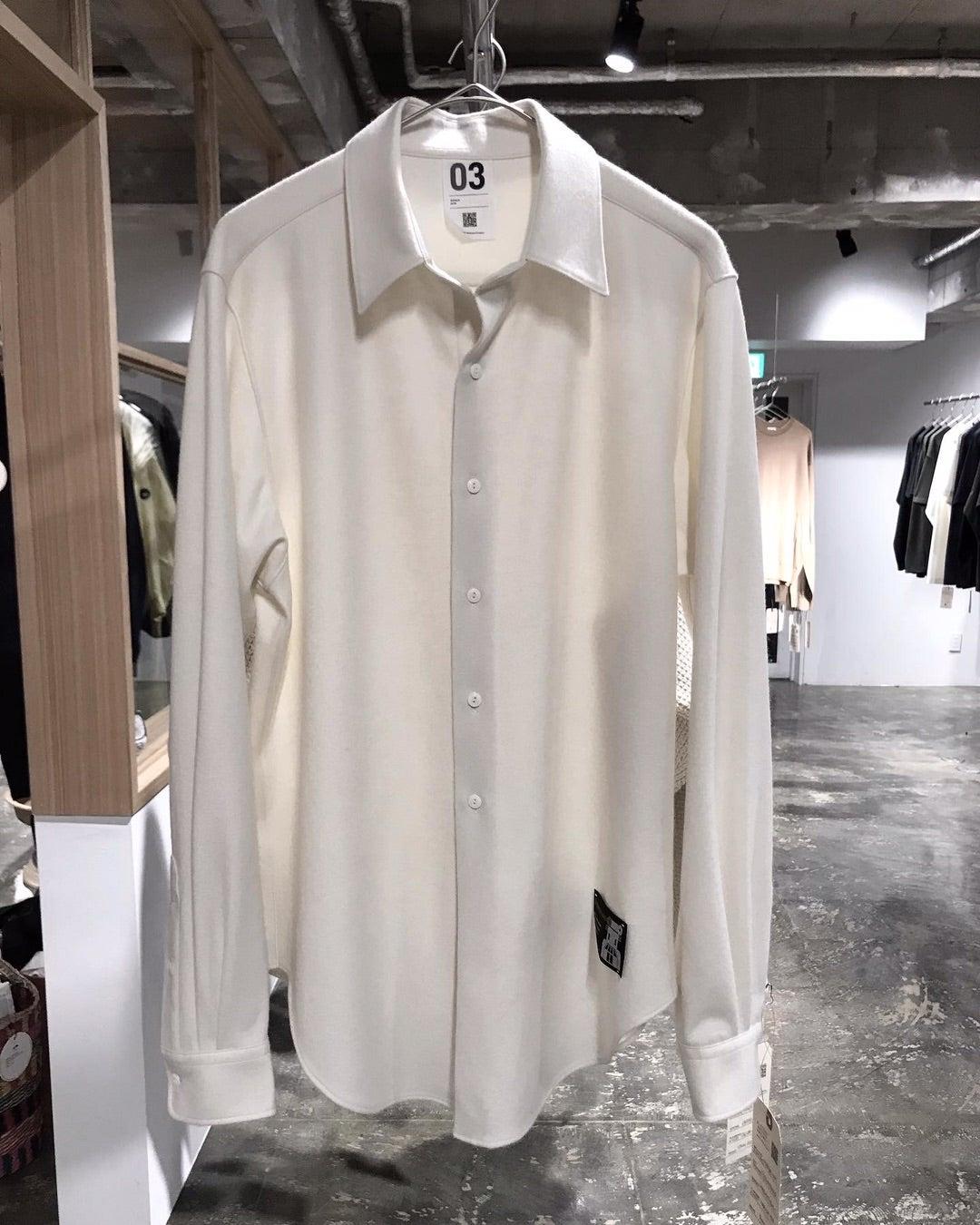 カシミア×スーパー140'sウールの極上ジャージシャツ!