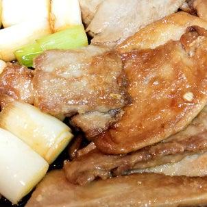 主菜+付け合わせ=鮪の照り焼き♫の画像
