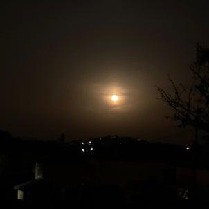 キフィ焚いてます✨満月きれいですっの画像
