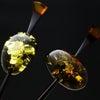 べっ甲バルティックアンバー(琥珀)一本挿し2021・2種|美しい天然琥珀の上品な輝きを纏う。の画像