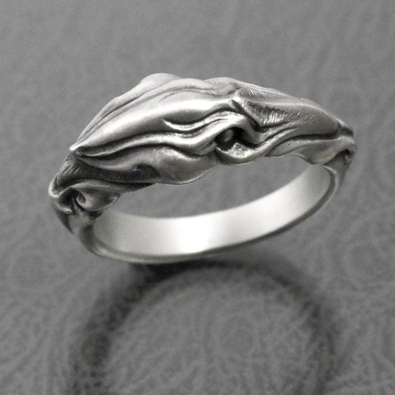 glam scale グラムスケイル 新作 シルバーアクセサリー カラス 烏 鴉 リング crow ring シルバーギークス silvergeeks