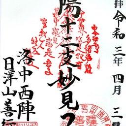 画像 【京都】只今春の特別拝観中‼️大本山妙顕寺塔頭「善行寺」でいただいたステキな【限定御朱印】 の記事より 4つ目