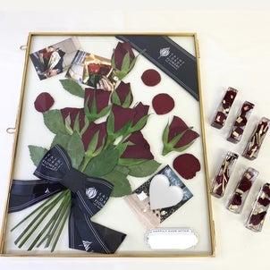 プロポーズの花束が素敵な作品に!!の画像