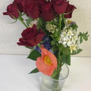 プロポーズ+誕生日のお花が素敵な商品に!!の画像