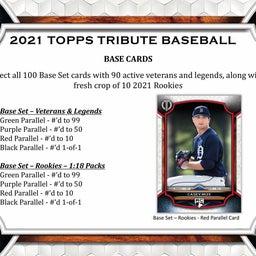 画像 MLB 2021 Topps Tribute Baseball カード新商品情報! の記事より 3つ目
