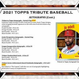 画像 MLB 2021 Topps Tribute Baseball カード新商品情報! の記事より 5つ目