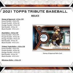 画像 MLB 2021 Topps Tribute Baseball カード新商品情報! の記事より 6つ目