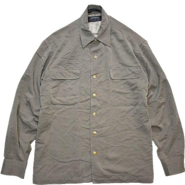 くすみカラー長袖シャツ@古着屋カチカチ