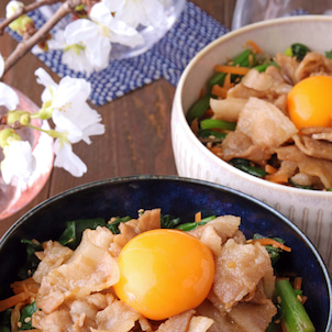 【Nadia TOPページ掲載】一品で栄養バランスバッチリ♪レンチンだけですぐでき豚丼の画像