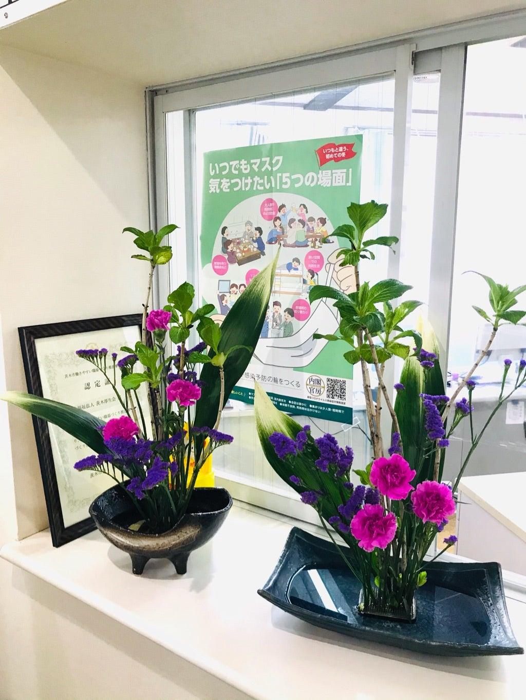 聖和荘 4月の生け花