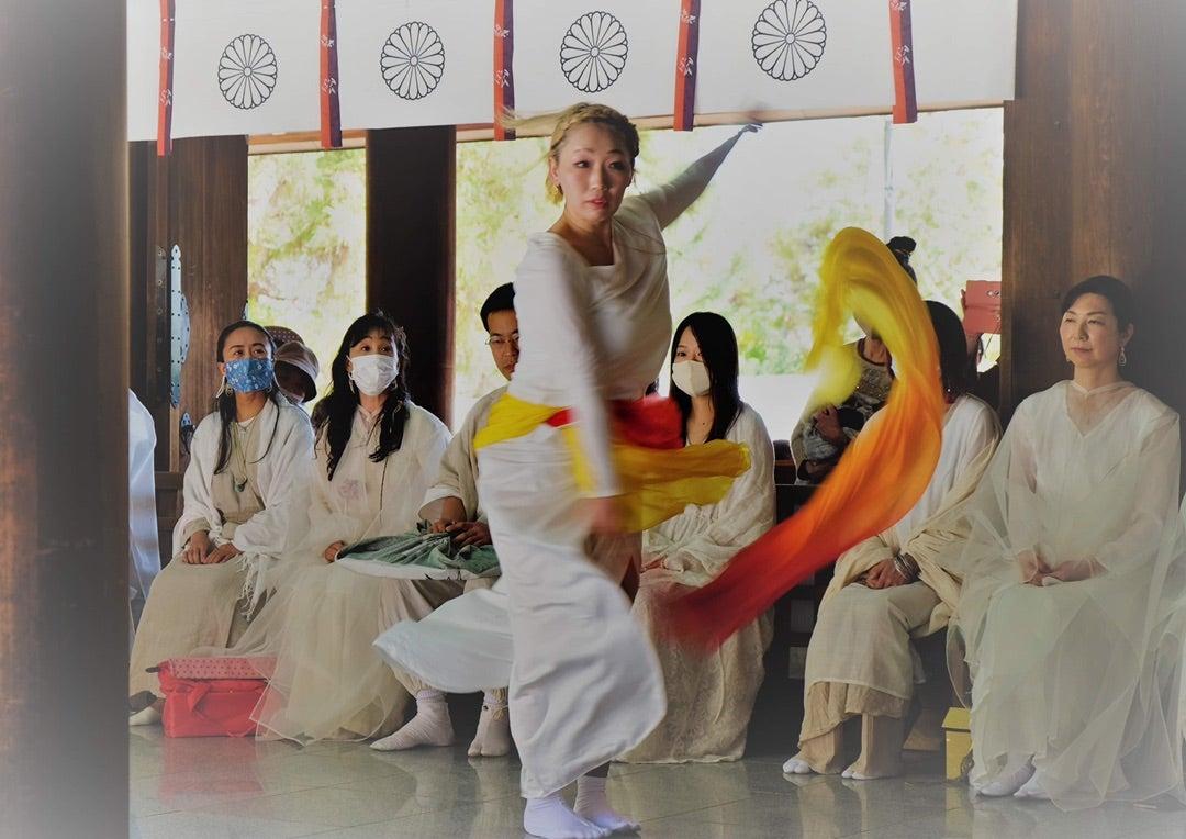 廣田神社での奉納②いやさかの唄の記事より