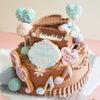 20歳のバースデーケーキをオーダーいただきました。ピアノもケーキとチョコで表現してみま...の画像