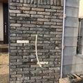 DIY 昭和レトロの門 タイル貼り