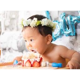 画像 一歳のお誕生日にプリザーブドフラワー花冠と可愛い画像 の記事より 3つ目