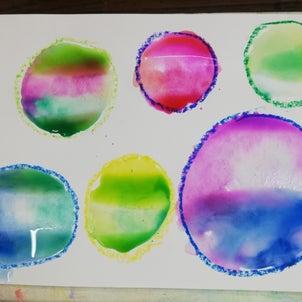 【目黒水曜クラス】水彩画の技法・たらしこみの画像