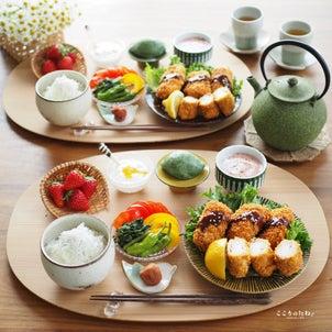 長芋の豚肉巻きフライ定食の画像
