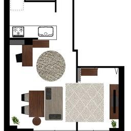 画像 マンションの家具の配置提案 ④ リビングと隣接する洋室とつなげて家具を配置!家具の配置換え提案も の記事より 29つ目
