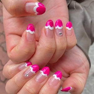 ピンク×ホワイトでもこもこフレンチ♪の画像