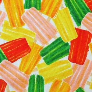 アイスキャンディー柄のカットクロス 柄屋ヤフオク店の画像