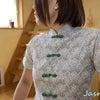 【チャイナ服】清楚で素敵なフロントボタンのチャイナシャツ。の画像