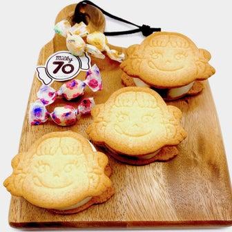 ペコちゃん型がカワイイ!ミルキー味の甘〜いガナッシュたっぷりの「pekoサンド」が美味♪
