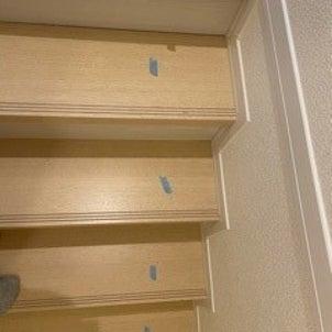 階段の傷補修の画像