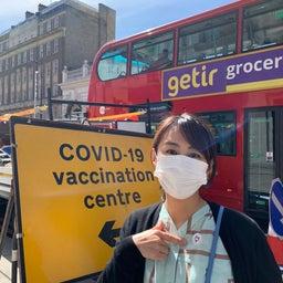 画像 アストラゼネカワクチン接種1回目in London の記事より